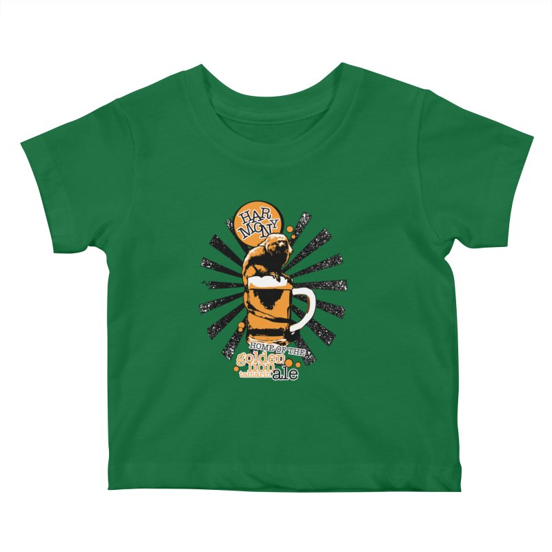 Golden Lion Tamarin Kids Baby T-Shirt by Harmony Brewing Company