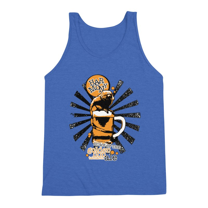 Golden Lion Tamarin Men's Triblend Tank by Harmony Brewing Company