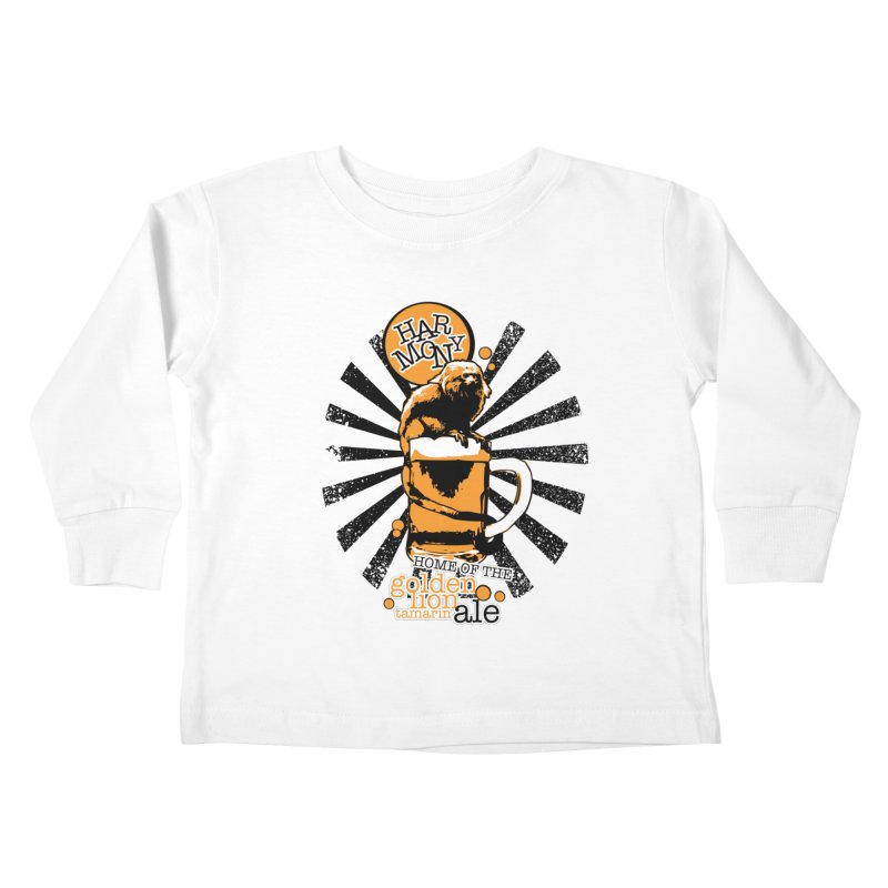 Golden Lion Tamarin Kids Toddler Longsleeve T-Shirt by Harmony Brewing Company