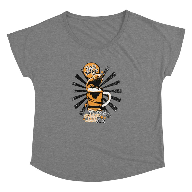 Golden Lion Tamarin Women's Dolman Scoop Neck by Harmony Brewing Company