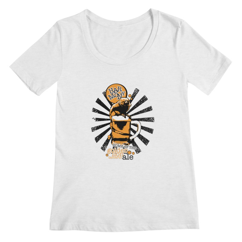 Golden Lion Tamarin Women's Regular Scoop Neck by Harmony Brewing Company