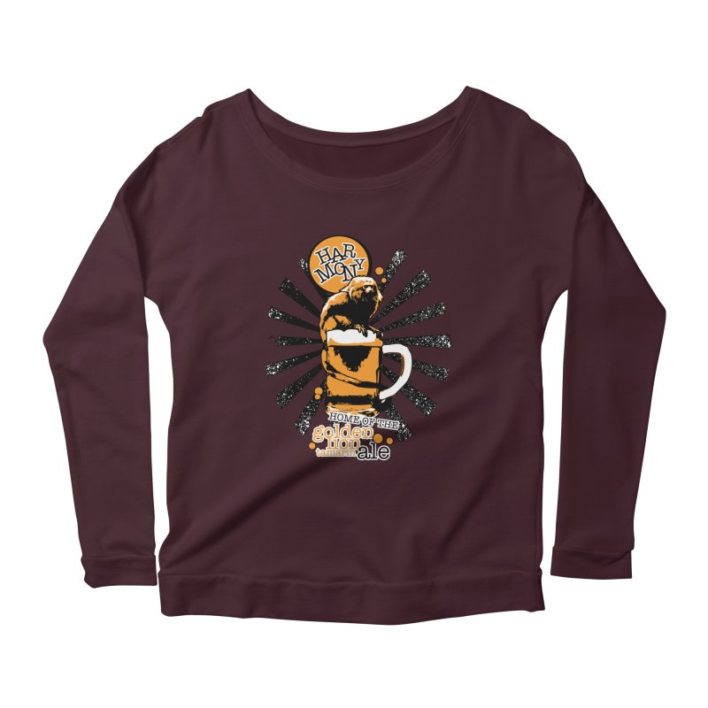 Golden Lion Tamarin Women's Scoop Neck Longsleeve T-Shirt by Harmony Brewing Company