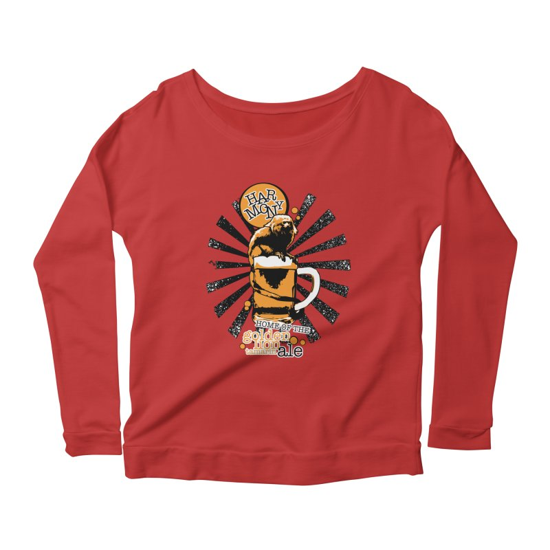 Golden Lion Tamarin Women's Scoop Neck Longsleeve T-Shirt by Harmony Brewing Company