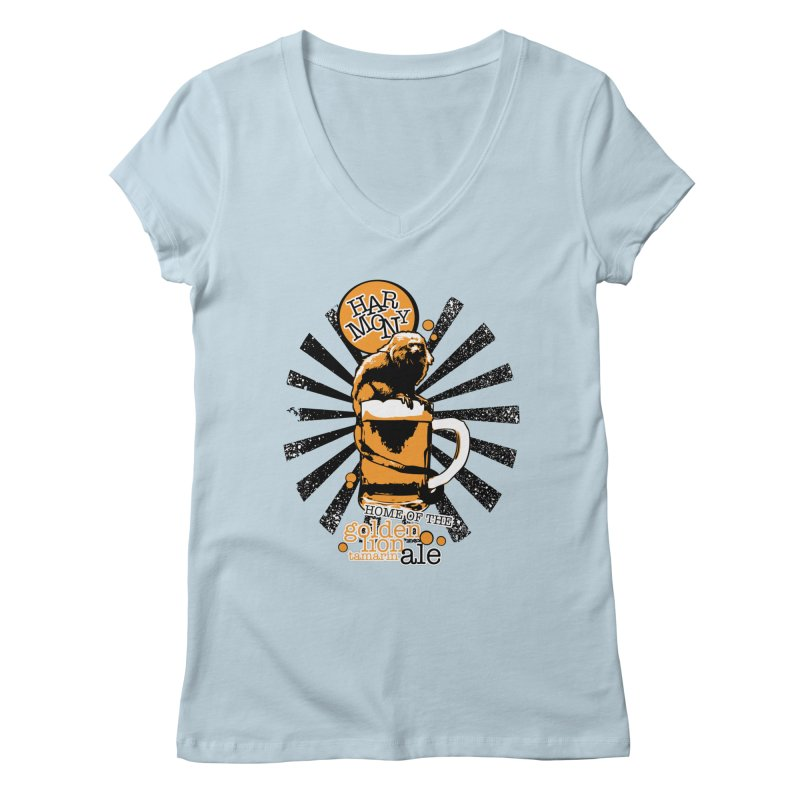 Golden Lion Tamarin Women's V-Neck by Harmony Brewing Company