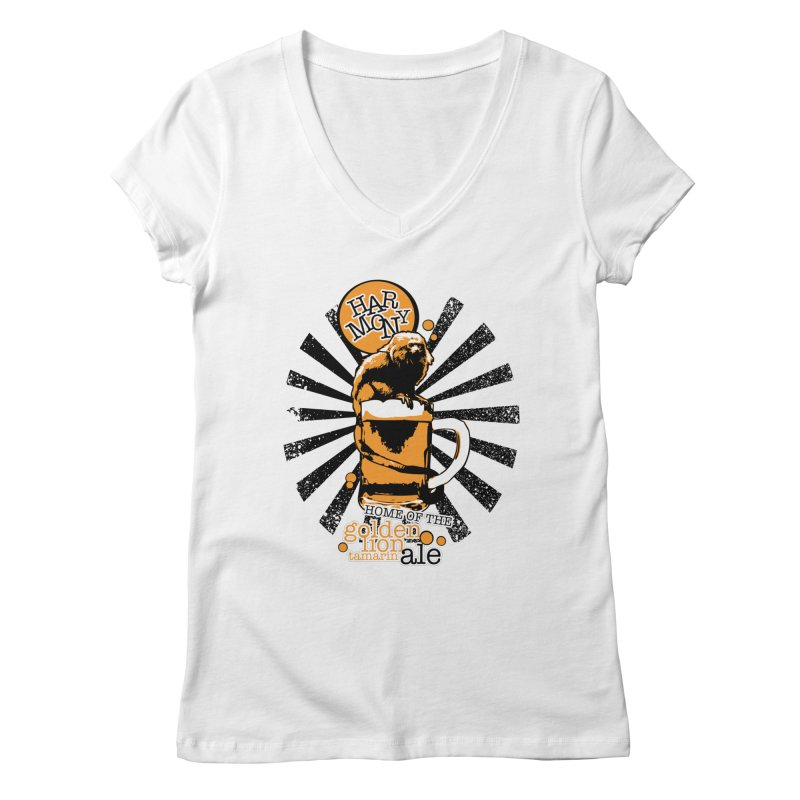 Golden Lion Tamarin Women's Regular V-Neck by Harmony Brewing Company