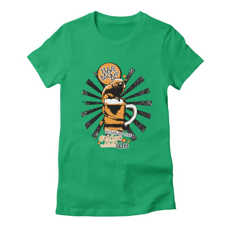 Golden Lion Tamarin Women's Fitted T-Shirt by Harmony Brewing Company