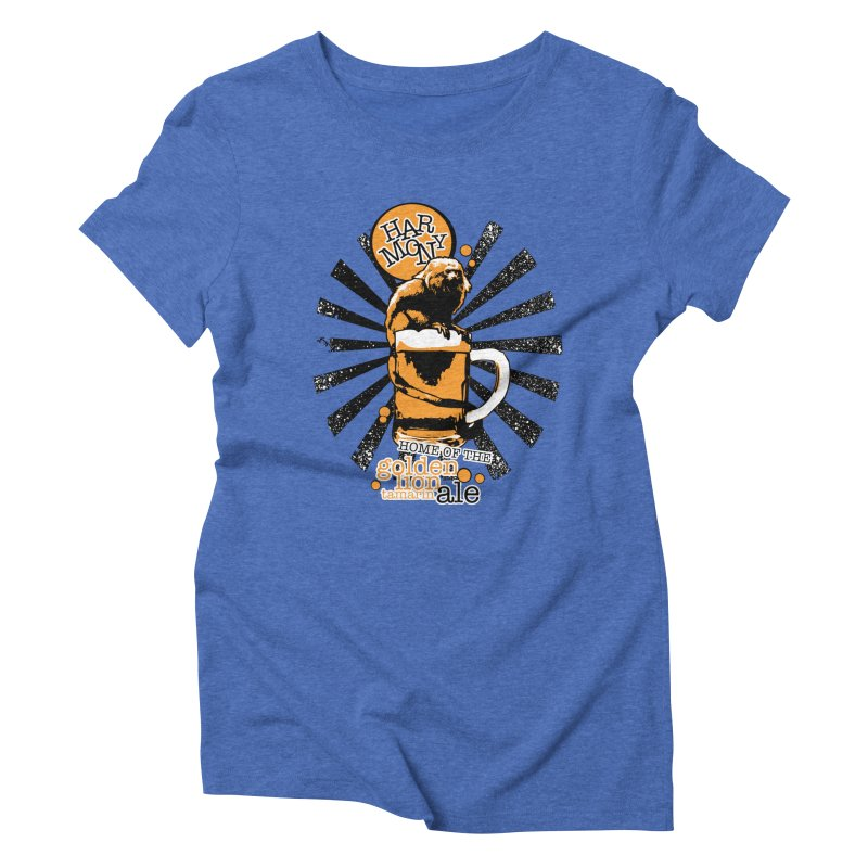 Golden Lion Tamarin Women's Triblend T-Shirt by Harmony Brewing Company