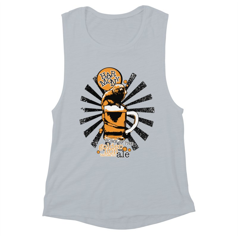 Golden Lion Tamarin Women's Muscle Tank by Harmony Brewing Company