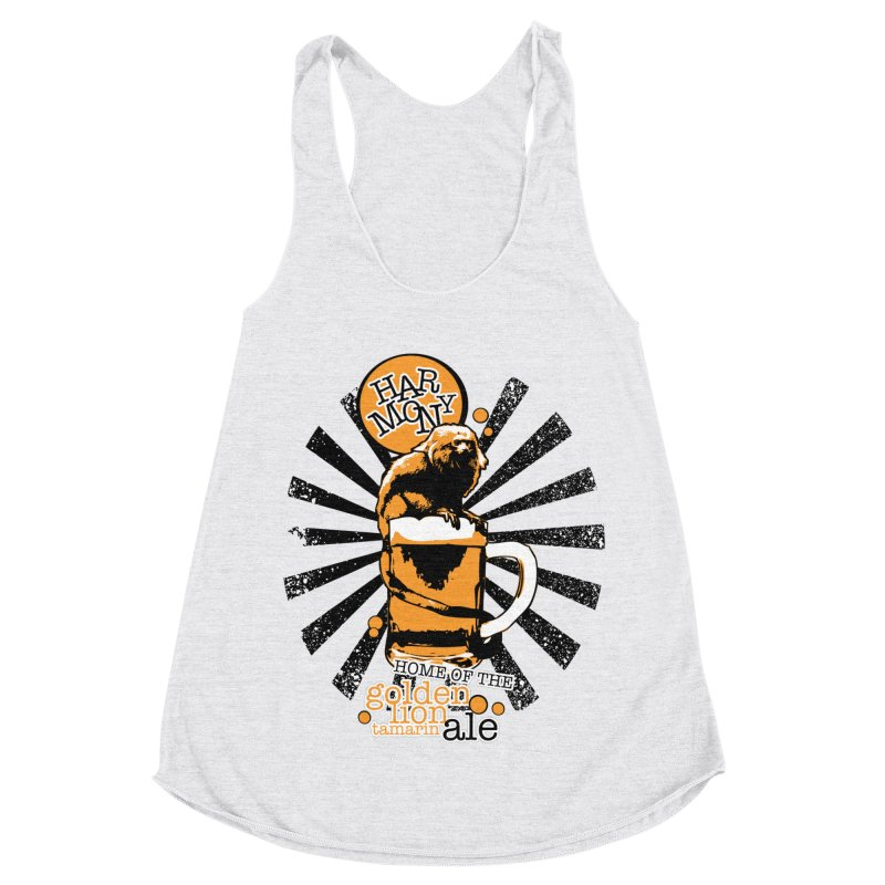 Golden Lion Tamarin Women's Racerback Triblend Tank by Harmony Brewing Company