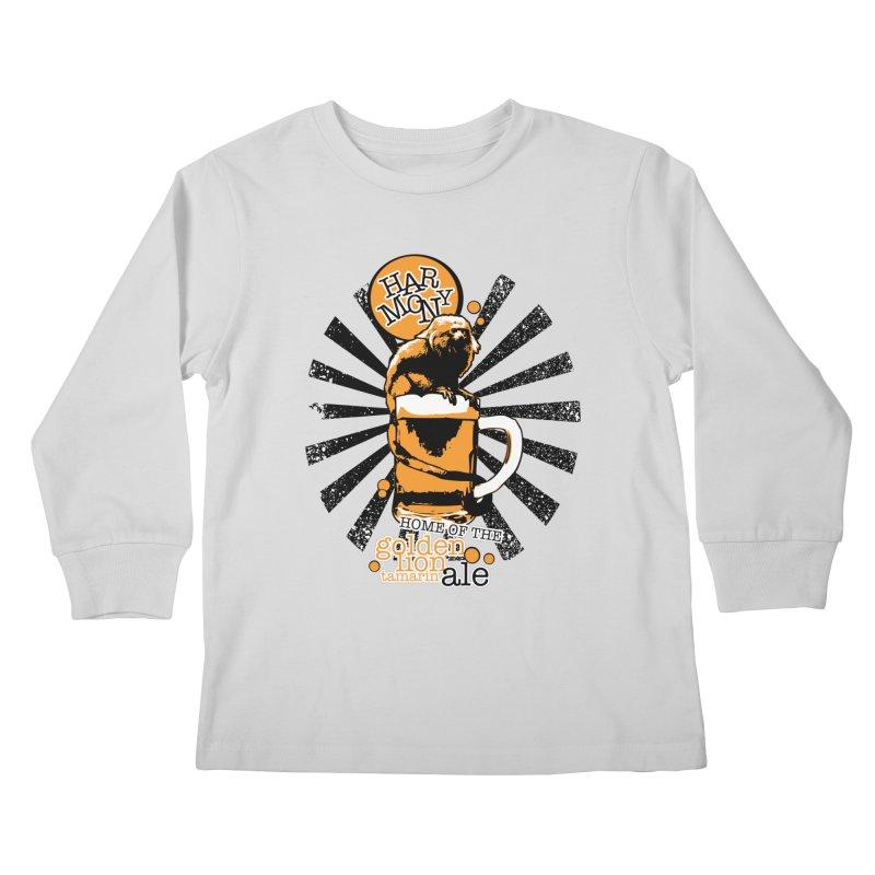 Golden Lion Tamarin Kids Longsleeve T-Shirt by Harmony Brewing Company