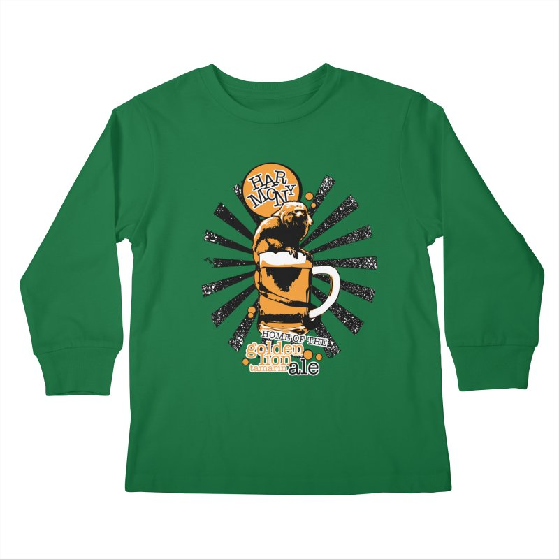 Golden Lion Tamarin Kids Longsleeve T-Shirt by Harmony Brewing Company