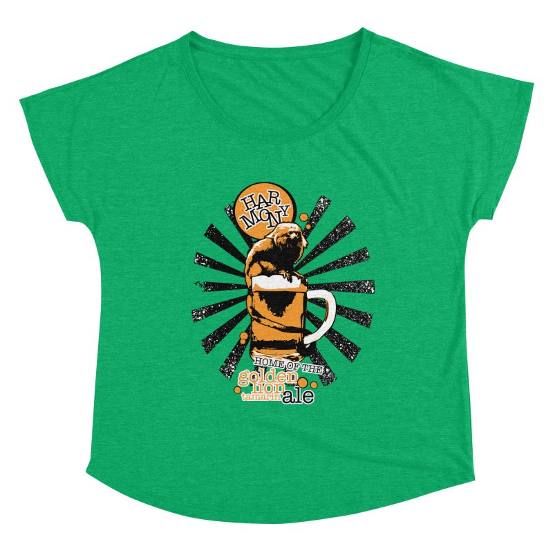 Golden Lion Tamarin Women's Scoop Neck by Harmony Brewing Company