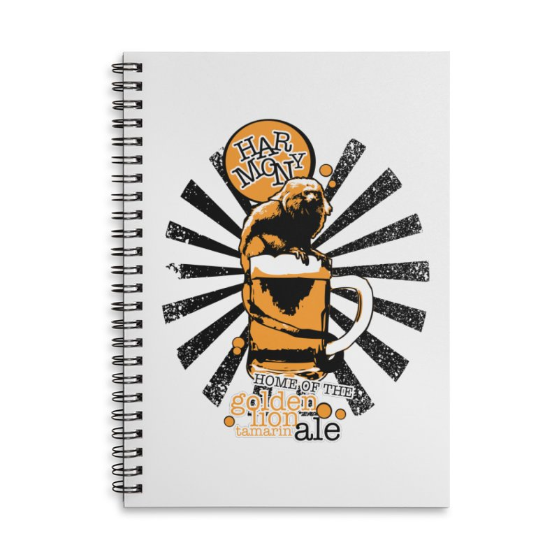 Golden Lion Tamarin Accessories Lined Spiral Notebook by Harmony Brewing Company