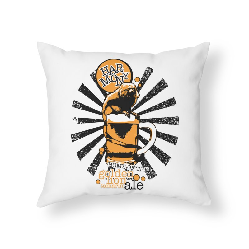 Golden Lion Tamarin Home Throw Pillow by Harmony Brewing Company