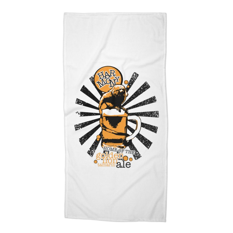 Golden Lion Tamarin Accessories Beach Towel by Harmony Brewing Company