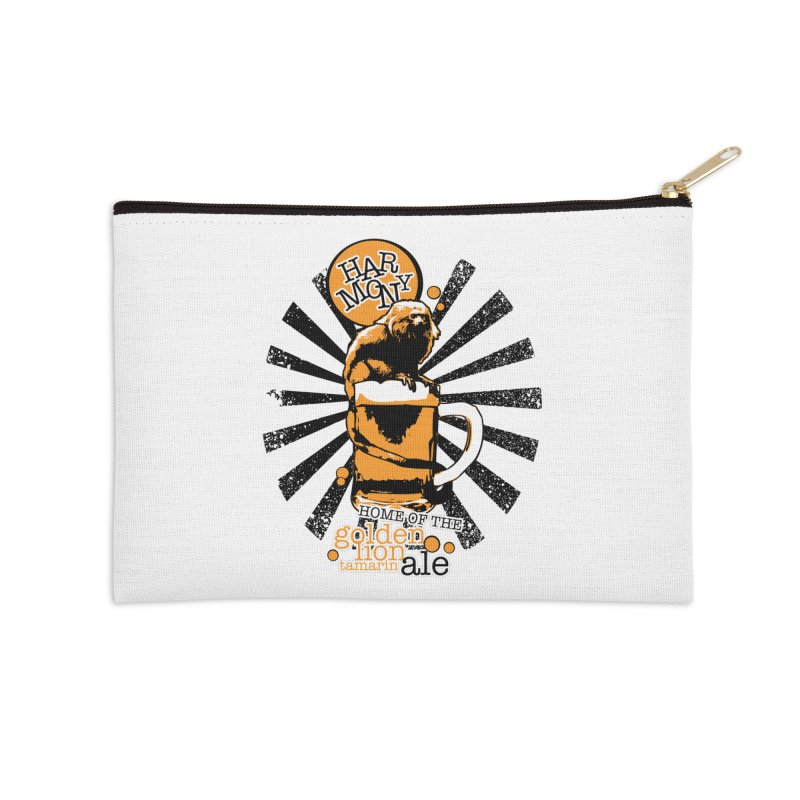 Golden Lion Tamarin Accessories Zip Pouch by Harmony Brewing Company