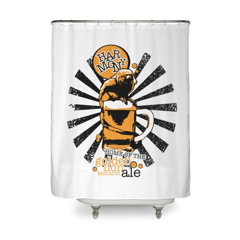 Golden Lion Tamarin Home Shower Curtain by Harmony Brewing Company