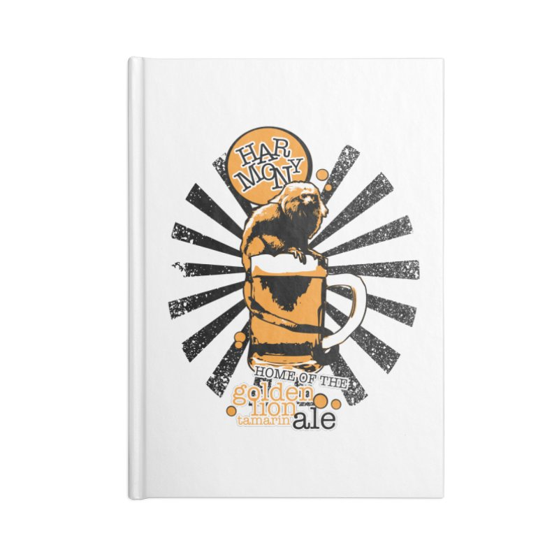 Golden Lion Tamarin Accessories Lined Journal Notebook by Harmony Brewing Company