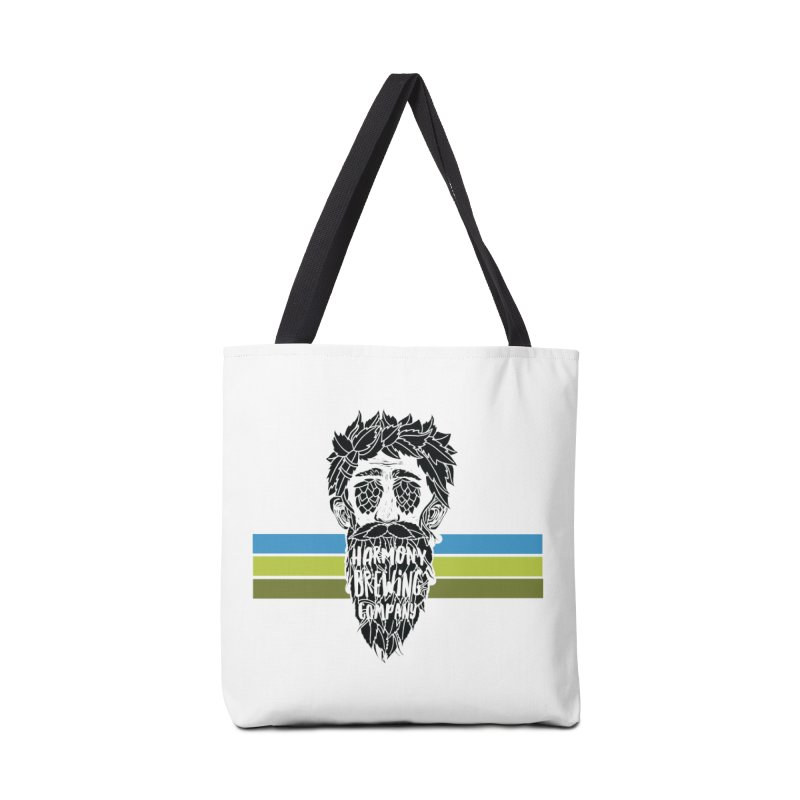 Stripey Hop Eyed Guy Accessories Tote Bag Bag by Harmony Brewing Company