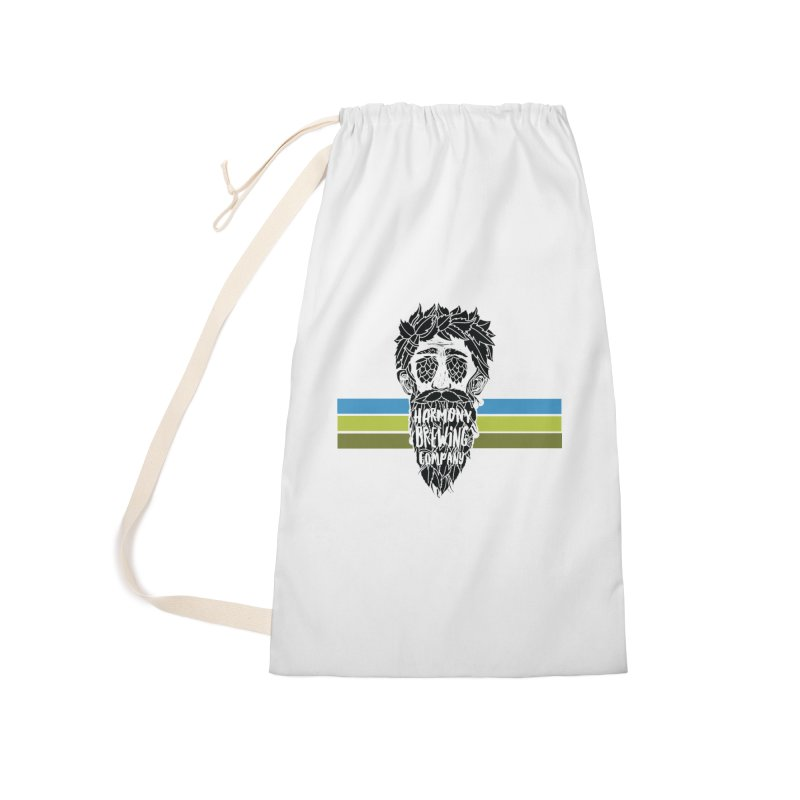 Stripey Hop Eyed Guy Accessories Laundry Bag Bag by Harmony Brewing Company