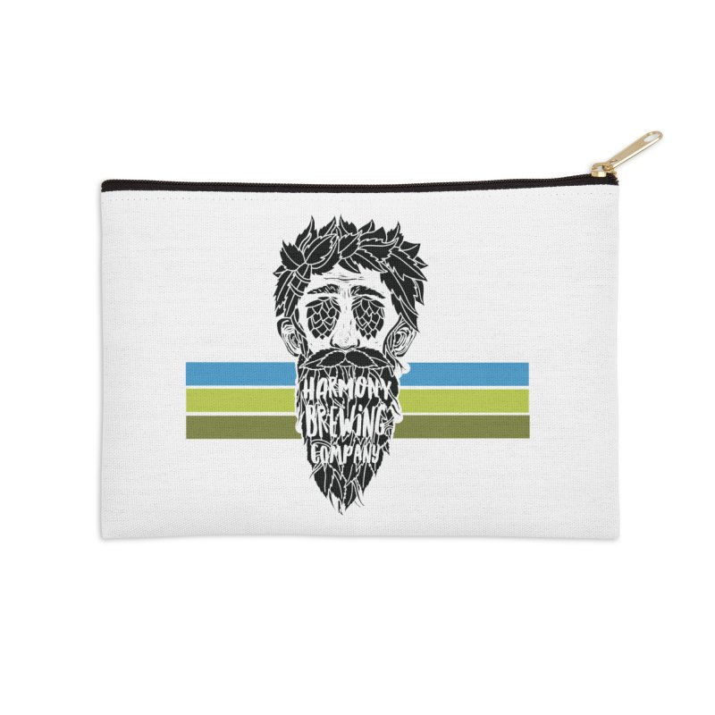 Stripey Hop Eyed Guy Accessories Zip Pouch by Harmony Brewing Company