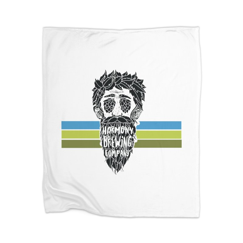 Stripey Hop Eyed Guy Home Blanket by Harmony Brewing Company