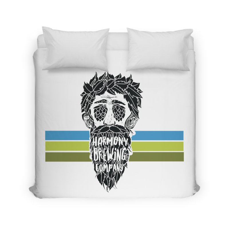 Stripey Hop Eyed Guy Home Duvet by Harmony Brewing Company