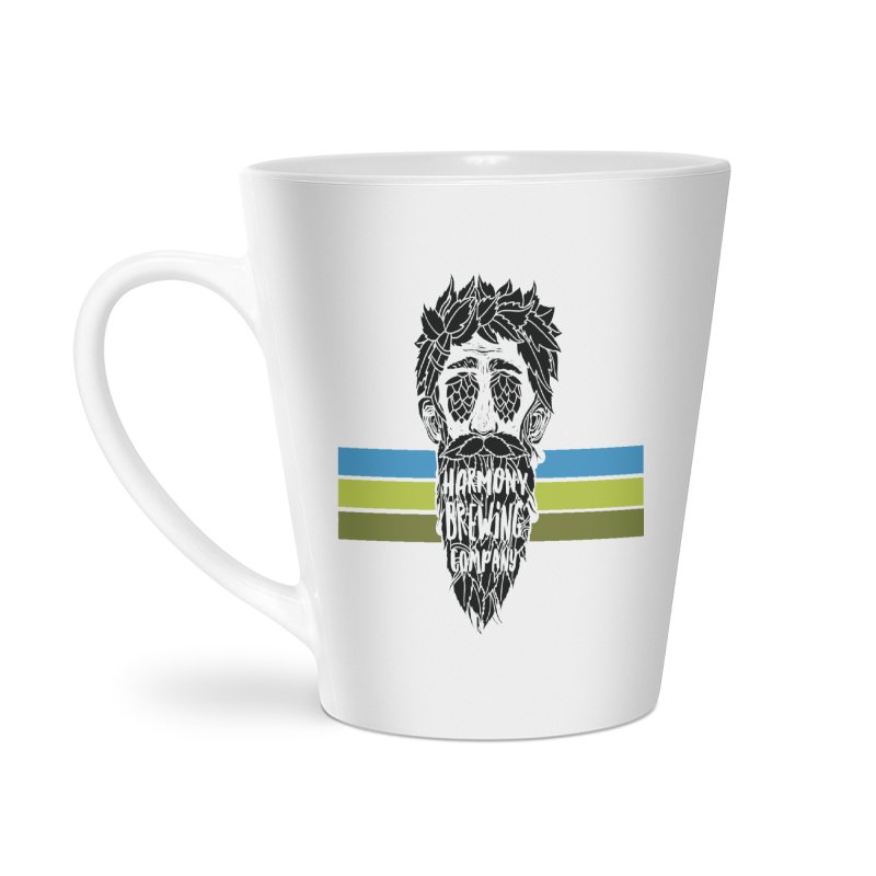 Stripey Hop Eyed Guy Accessories Latte Mug by Harmony Brewing Company