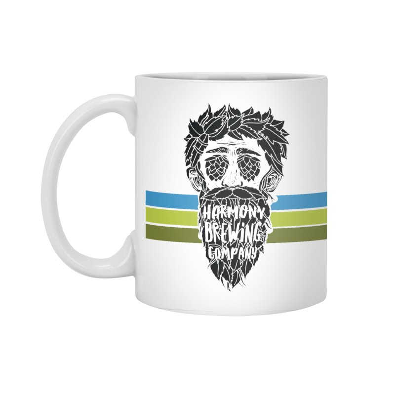 Stripey Hop Eyed Guy Accessories Standard Mug by Harmony Brewing Company