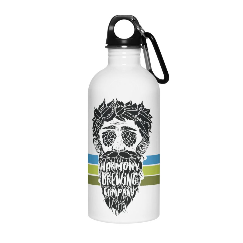 Stripey Hop Eyed Guy Accessories Water Bottle by Harmony Brewing Company