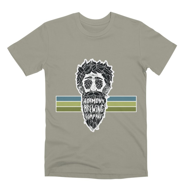 Stripey Hop Eyed Guy Men's Premium T-Shirt by Harmony Brewing Company