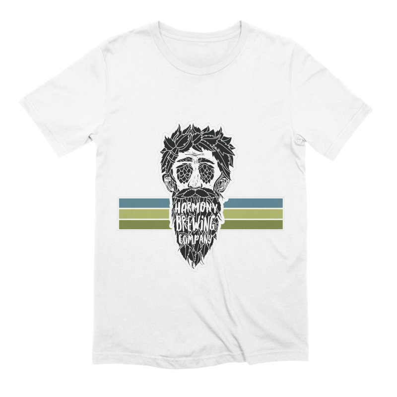 Stripey Hop Eyed Guy Men's Extra Soft T-Shirt by Harmony Brewing Company