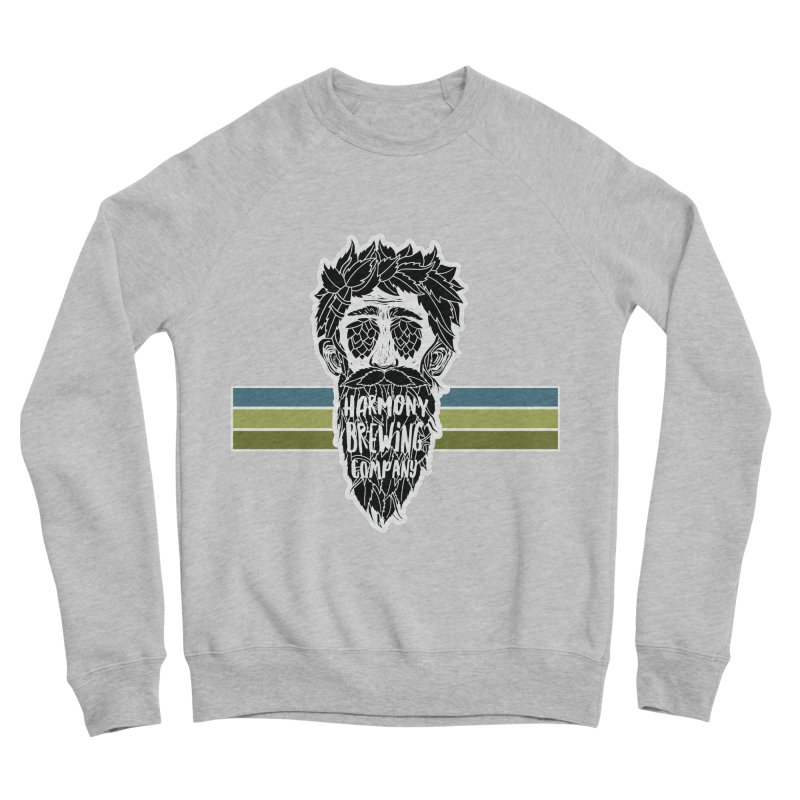 Stripey Hop Eyed Guy Men's Sponge Fleece Sweatshirt by Harmony Brewing Company