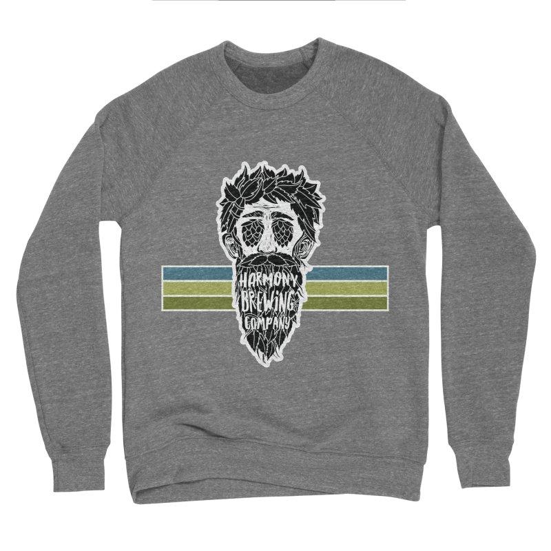 Stripey Hop Eyed Guy Men's Sponge Fleece Sweatshirt by Harmony Brewing Company