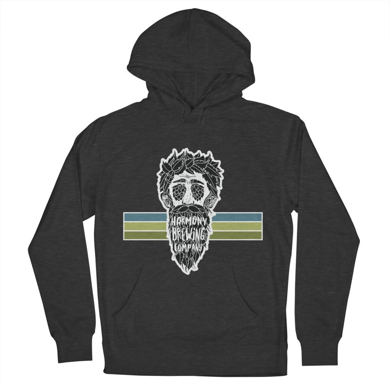 Stripey Hop Eyed Guy Men's French Terry Pullover Hoody by Harmony Brewing Company