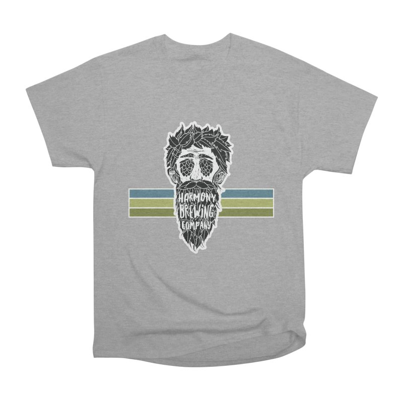Stripey Hop Eyed Guy Women's Heavyweight Unisex T-Shirt by Harmony Brewing Company