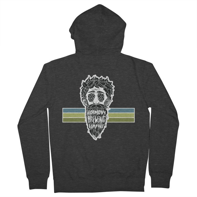 Stripey Hop Eyed Guy Women's French Terry Zip-Up Hoody by Harmony Brewing Company