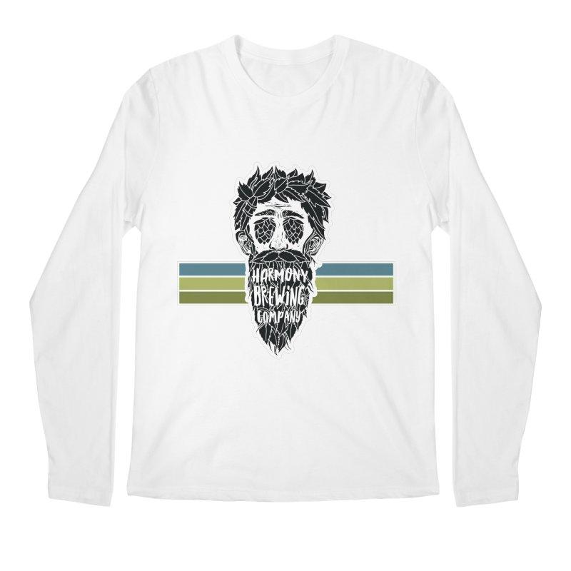 Stripey Hop Eyed Guy Men's Regular Longsleeve T-Shirt by Harmony Brewing Company