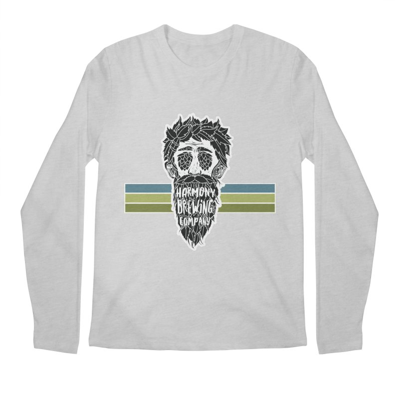 Stripey Hop Eyed Guy Men's Regular Longsleeve T-Shirt by Harmony Brewing Company