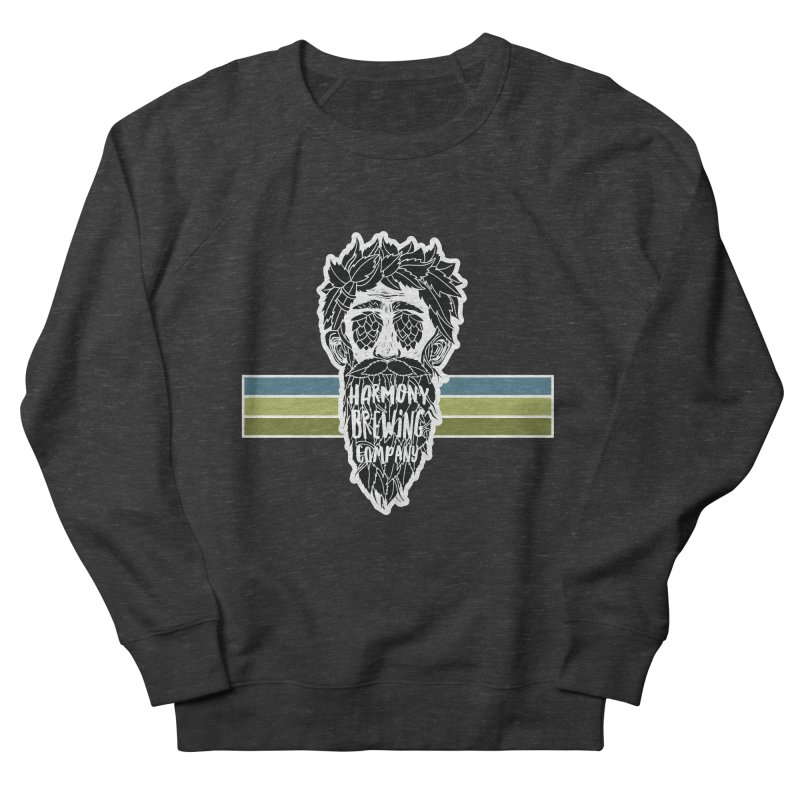 Stripey Hop Eyed Guy Men's French Terry Sweatshirt by Harmony Brewing Company