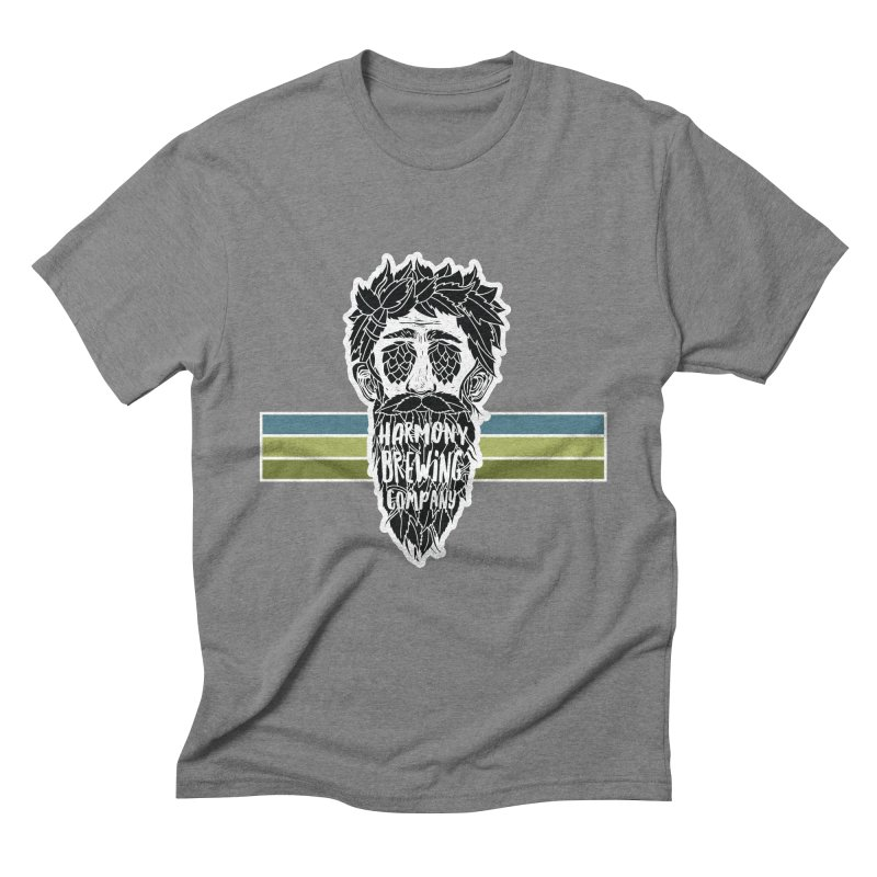 Stripey Hop Eyed Guy Men's Triblend T-Shirt by Harmony Brewing Company