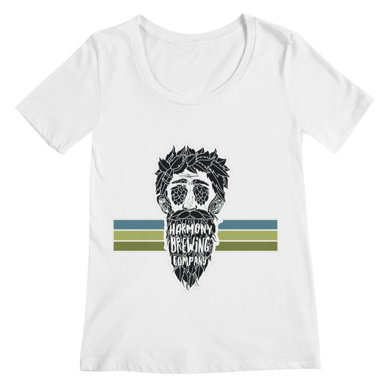 Stripey Hop Eyed Guy Women's Regular Scoop Neck by Harmony Brewing Company