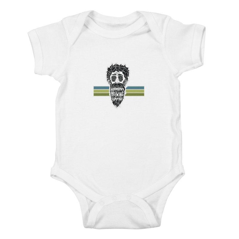 Stripey Hop Eyed Guy Kids Baby Bodysuit by Harmony Brewing Company