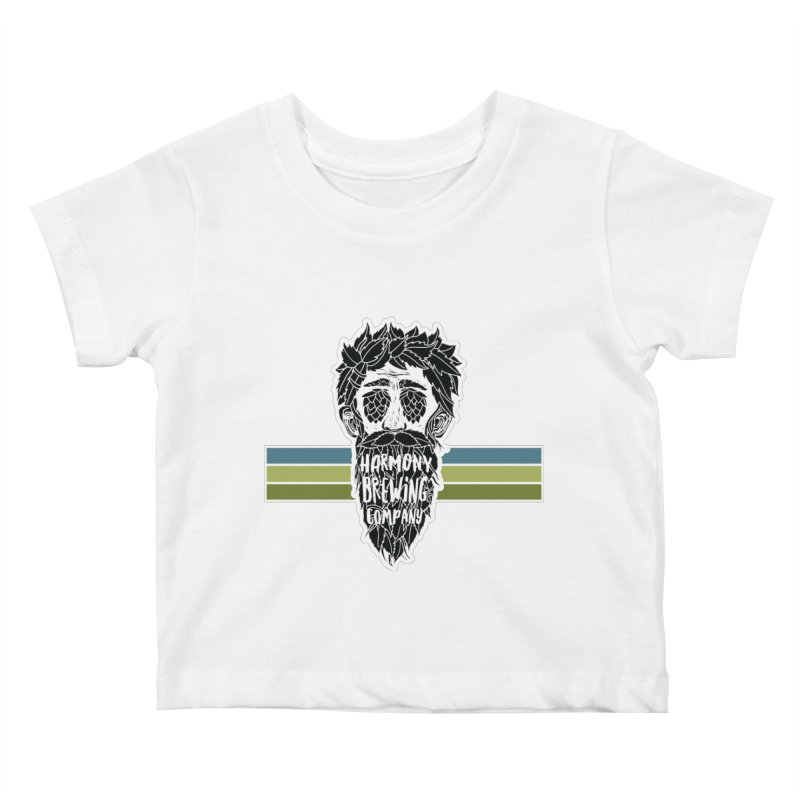 Stripey Hop Eyed Guy Kids Baby T-Shirt by Harmony Brewing Company