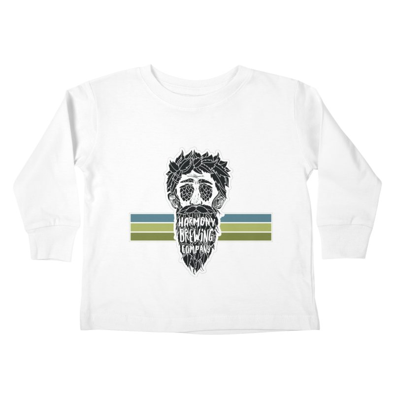 Stripey Hop Eyed Guy Kids Toddler Longsleeve T-Shirt by Harmony Brewing Company