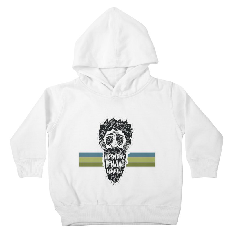Stripey Hop Eyed Guy Kids Toddler Pullover Hoody by Harmony Brewing Company