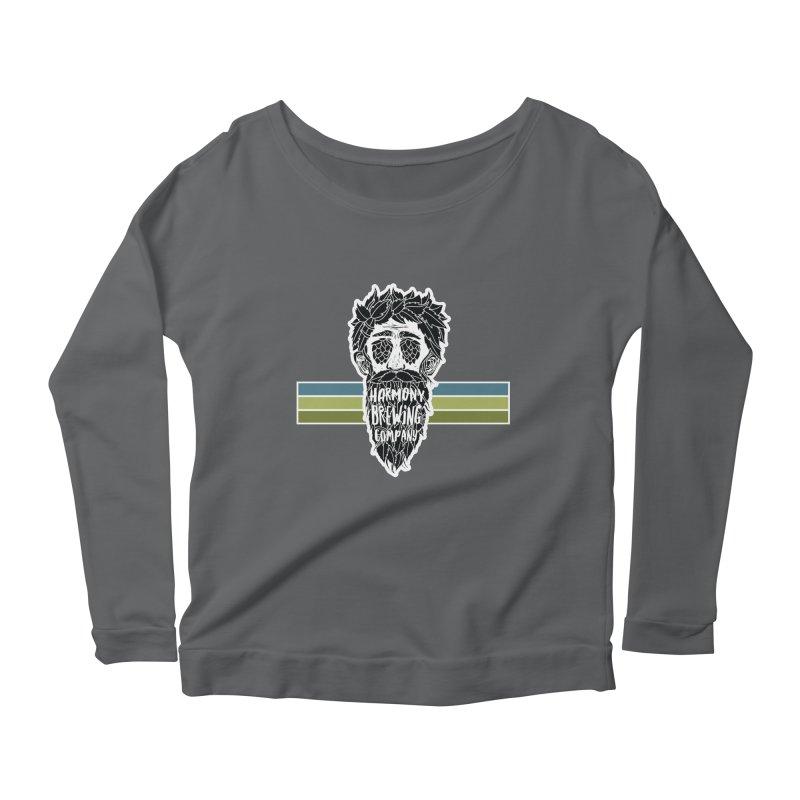 Stripey Hop Eyed Guy Women's Scoop Neck Longsleeve T-Shirt by Harmony Brewing Company