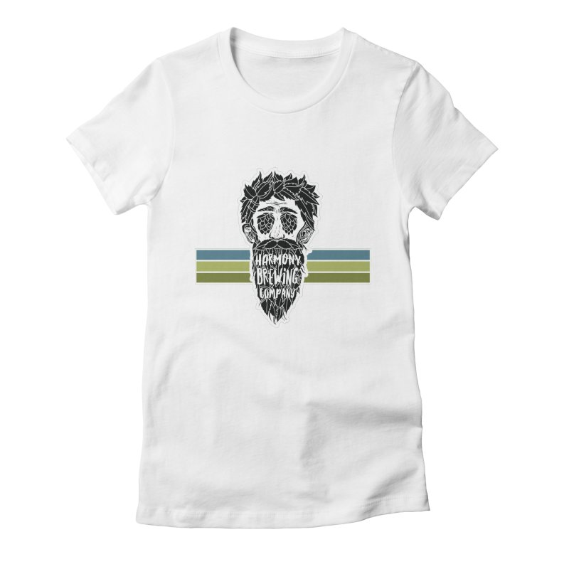 Stripey Hop Eyed Guy Women's Fitted T-Shirt by Harmony Brewing Company