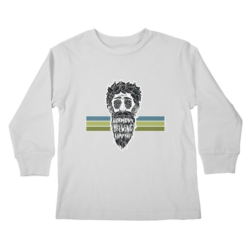 Stripey Hop Eyed Guy Kids Longsleeve T-Shirt by Harmony Brewing Company