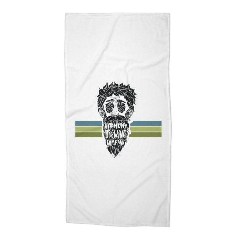 Stripey Hop Eyed Guy Accessories Beach Towel by Harmony Brewing Company